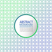 Abstract geometric background green and blue of circles for screen saver, banner, article, post, texture, pattern