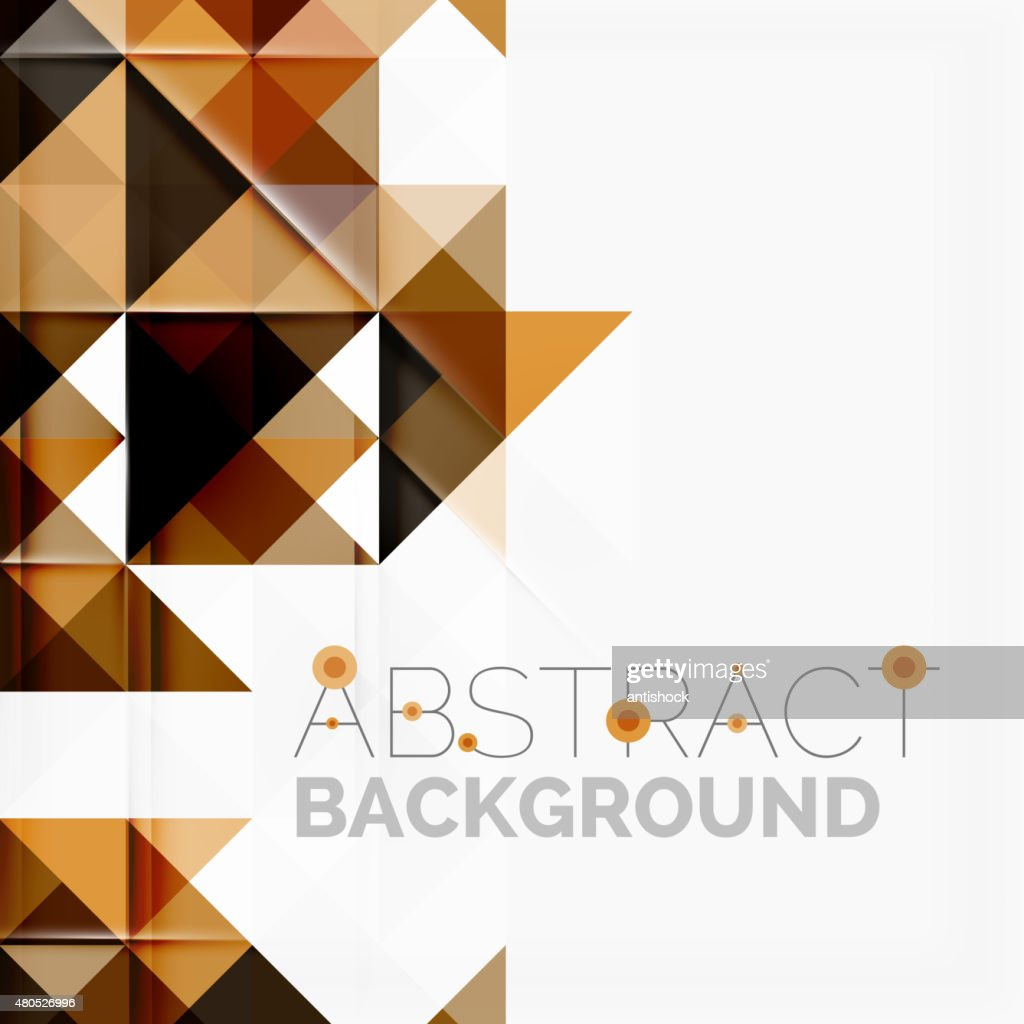 Abstract geometric background. Modern overlapping triangles : Vektorgrafik