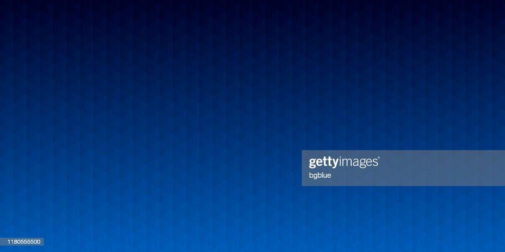 Abstract geometric background - Mosaic with triangle patterns - Blue gradient : Ilustração de stock