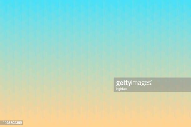 abstract geometric background - mosaic with triangle patterns - blue gradient - beige background stock illustrations