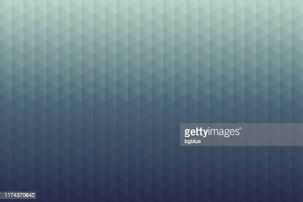 abstract geometric background - mosaic with triangle patterns - gray gradient - dark blue background texture stock illustrations