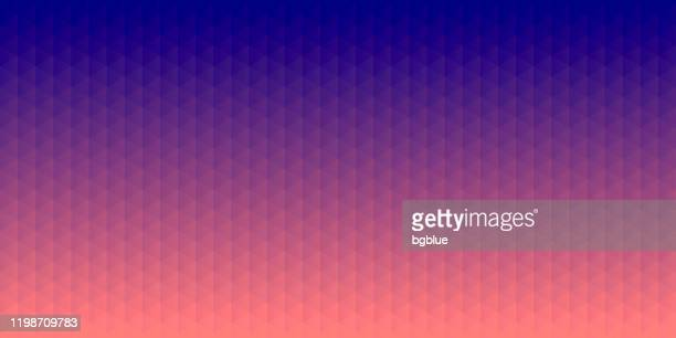 abstract geometric background - mosaic with triangle patterns - purple gradient - navy blue stock illustrations