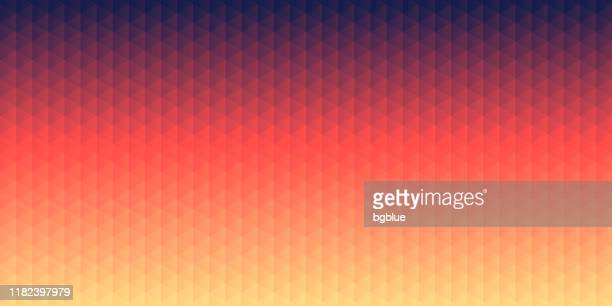 abstract geometric background - mosaic with triangle patterns - red gradient - brown background stock illustrations