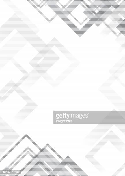 Abstract geometric background pattern -  template design - gray black and white - vector Illustration