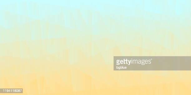 abstrakter geometrischer hintergrund - polygonmosaik mit beige-gradient - pastellfarbig stock-grafiken, -clipart, -cartoons und -symbole