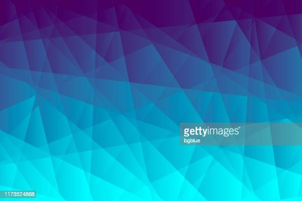 abstract geometric background - polygonal mosaic with blue gradient - fractal stock illustrations