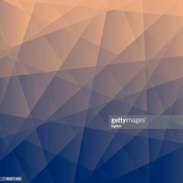 abstract geometric background - polygonal mosaic with gray gradient - beige background stock illustrations