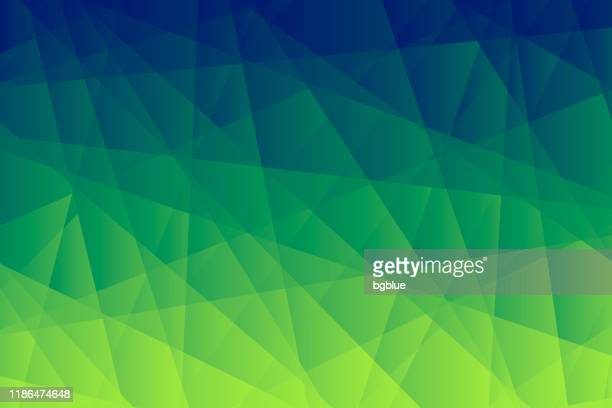 abstract geometric background - polygonal mosaic with green gradient - fractal stock illustrations