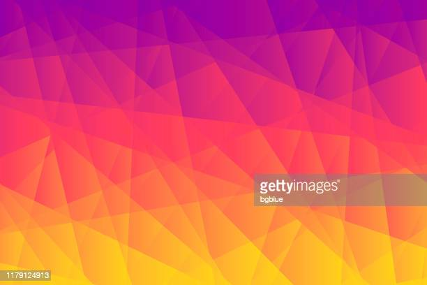 abstract geometric background - polygonal mosaic with orange gradient - fractal stock illustrations