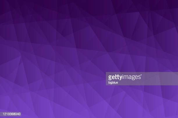 abstract geometric background - polygonal mosaic with purple gradient - purple background stock illustrations