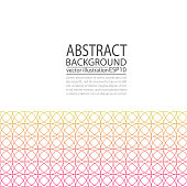 Abstract geometric background red and yellow of circles for screen saver, banner, paper
