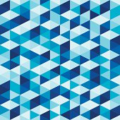 Abstract Geometric Background - Seamless Blue Pattern