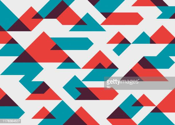 abstract geometric background - trapezoid stock illustrations