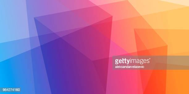 abstract geometric background - multi coloured stock illustrations