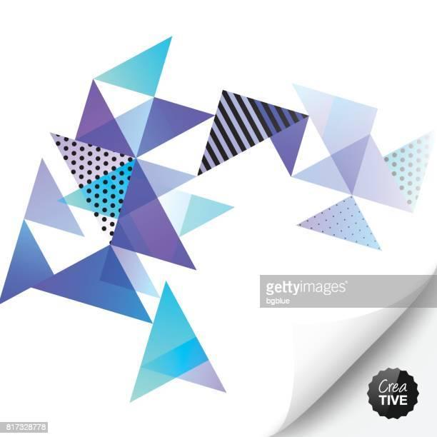 Abstrakten geometrischen Hintergrund mit gewellten Seite
