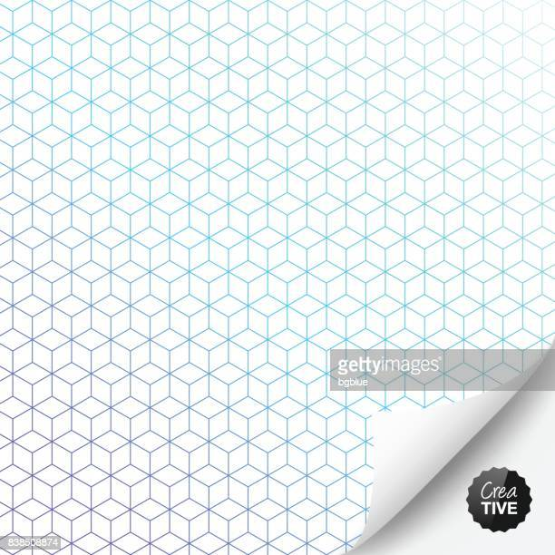 Abstract geometric background with curled page
