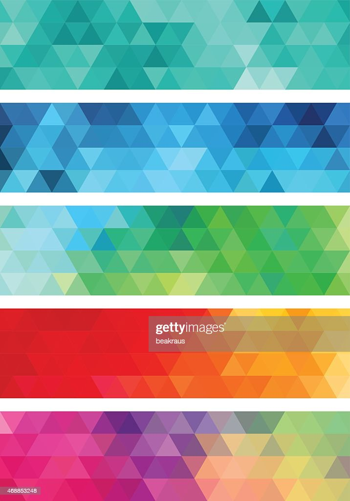 abstract geometric banner, vector set
