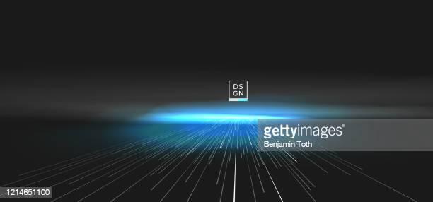 illustrazioni stock, clip art, cartoni animati e icone di tendenza di motivo di movimento geometrico astratto incentrato con sfondo linee dinamiche. - effetto zoom