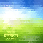 Abstract geometric color triangle shaped background