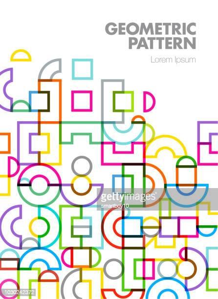 illustrations, cliparts, dessins animés et icônes de conception de la couverture de l'abstrait géométrique - forme géométrique