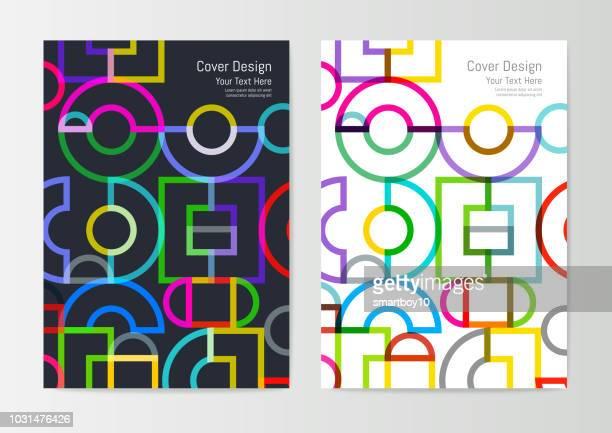 ilustraciones, imágenes clip art, dibujos animados e iconos de stock de diseño de la cubierta geométrica abstracta - logotipo