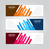 3 abstract geometric design banner.