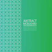 Abstract geometric green background from circles for a screen saver, banner, article, post, texture, pattern