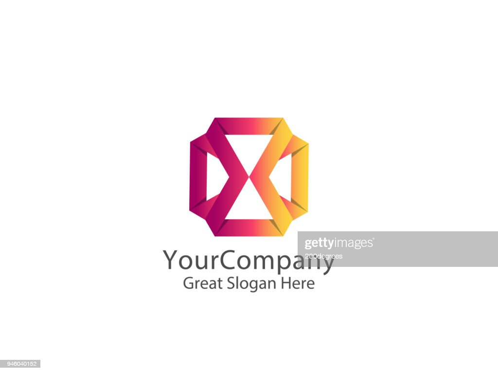 Abstract geometric letter X icon template with hexagonal element object. infinite cube box shape icon symbol design for mail, corporate business, apps, data technology. Vector illustration.