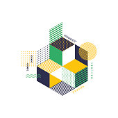 Abstract geometric modern background vector illustration