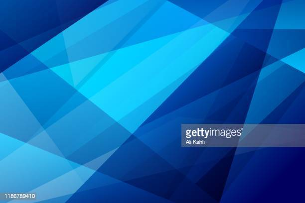 ilustrações de stock, clip art, desenhos animados e ícones de abstract geometric network technology background - azul