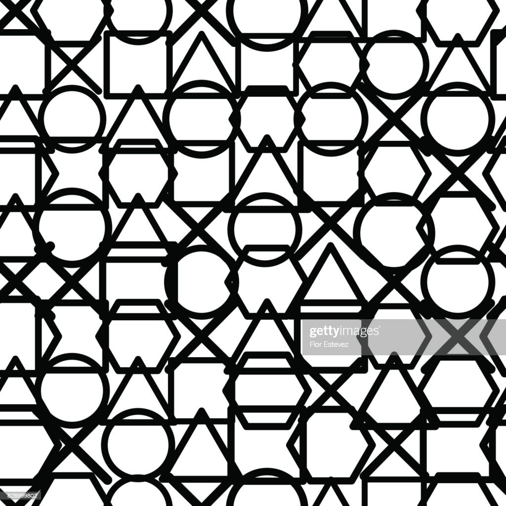 abstract geometric, overlapping geometric shapes texture seamless pattern