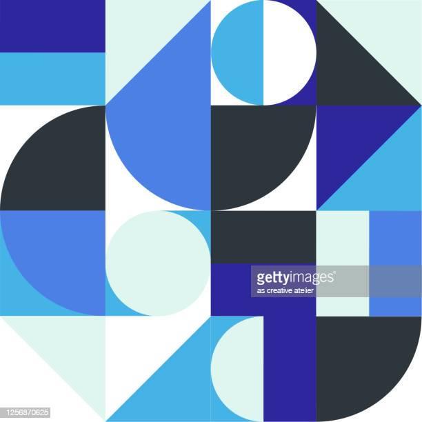 abstract geometric pattern artwork - swiss culture stock illustrations
