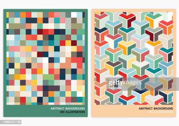 抽象的な幾何学的なパターンの背景 - 固体点のイラスト素材/クリップアート素材/マンガ素材/アイコン素材