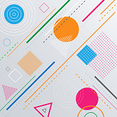 Abstract geometric pattern background with shapes.