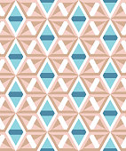 Abstract geometric pattern of angular elements. Muted tones.