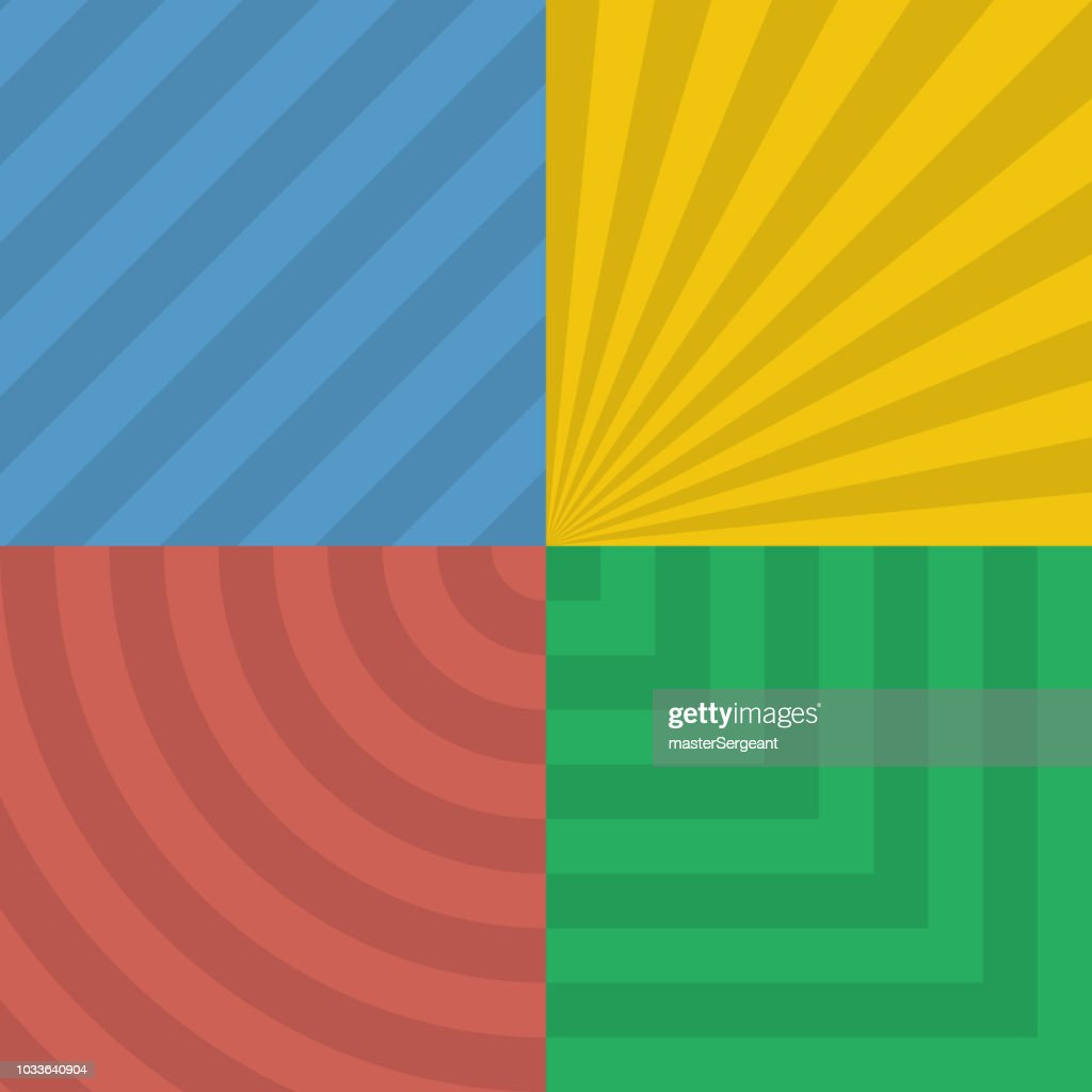 abstract geometric patterns on colorful background