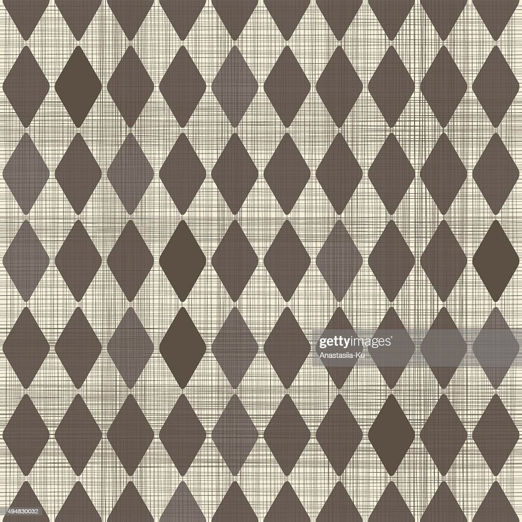 abstract geometric retro seamless brown and beige background