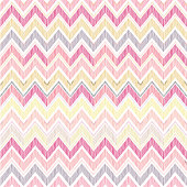 Abstract geometric seamless pattern. Fabric doodle zig zag line ornament. Zigzag pencil drawing background
