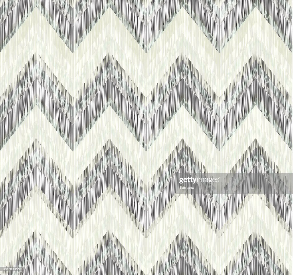 Abstract Geometric Seamless Pattern Fabric Doodle Zig Zag