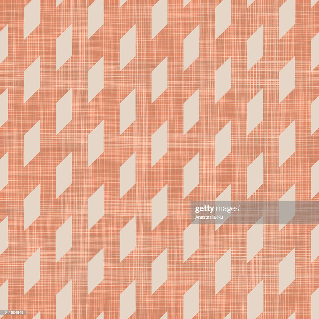 abstract geometric seamless pattern in faded orange color