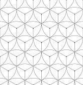 Abstract geometric seamless pattern vector hexagonal triangular background grid texture