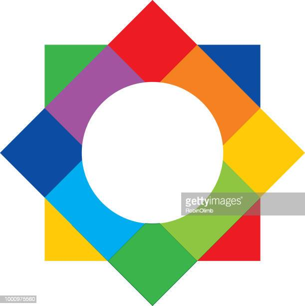 abstract geometric shape - marriage equality stock illustrations, clip art, cartoons, & icons