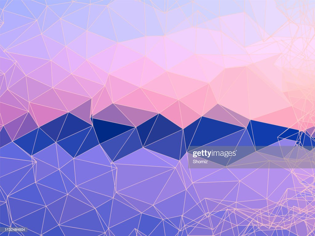 Abstract Geometric Shapes Background With Pastel Colors High