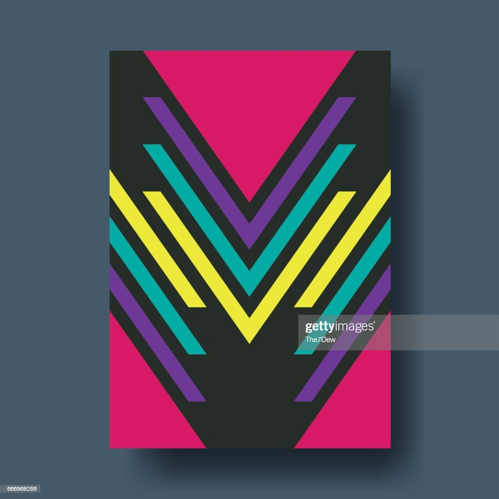 Abstract Geometric Shapes Cover Design - Vector illustration template
