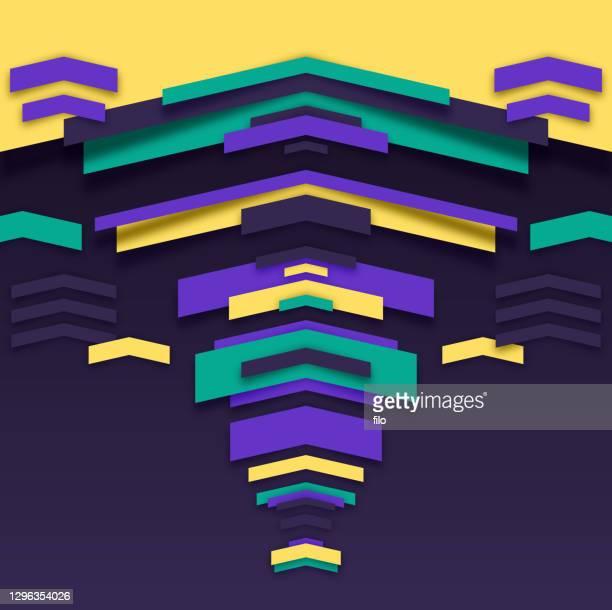 ilustraciones, imágenes clip art, dibujos animados e iconos de stock de abstracta formas geométricas fondo mardi gras - gras