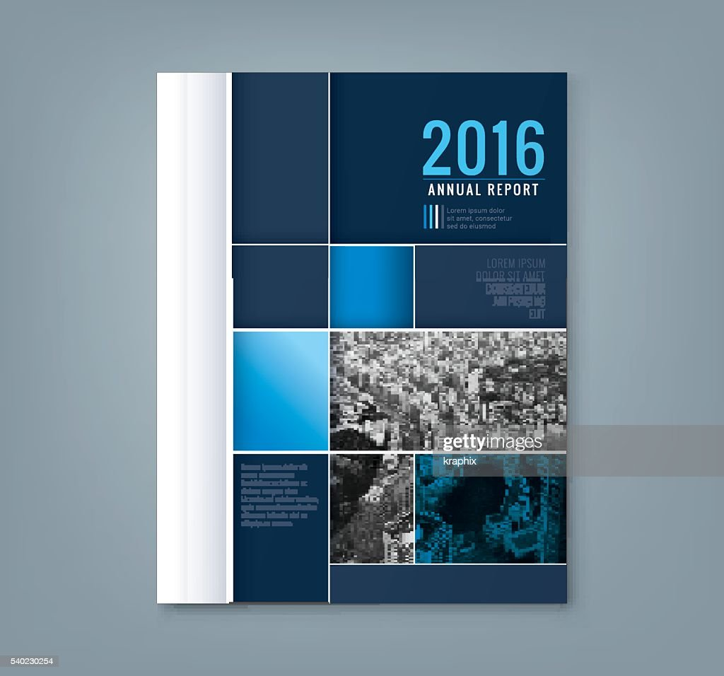 Abstract geometric square shape design template for business annual report