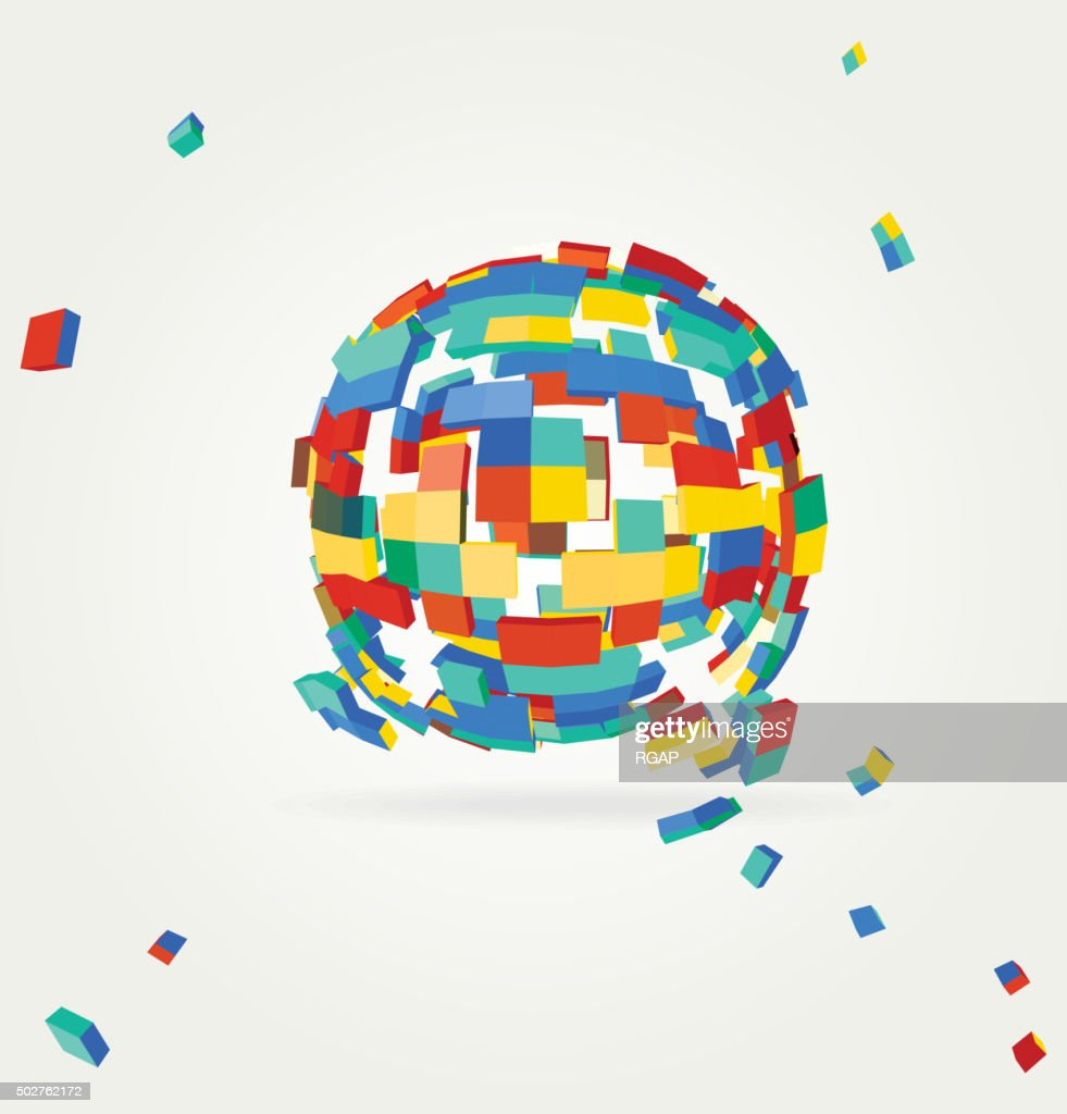 Abstract geometric technology vector design element