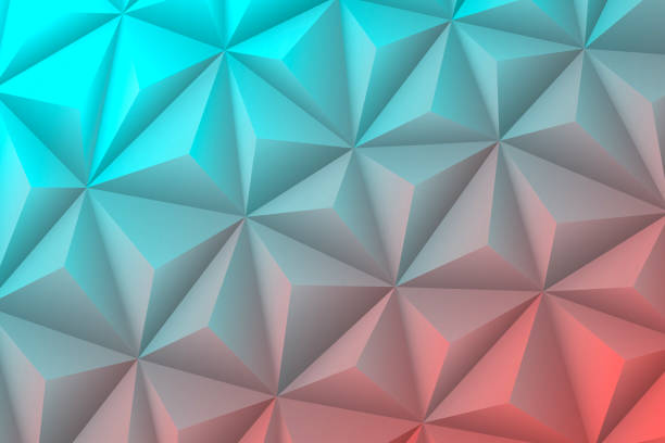 abstract geometric texture - low poly background - polygonal mosaic - blue gradient - cool attitude stock illustrations