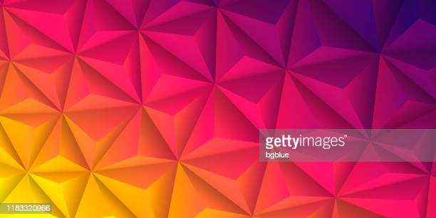 abstract geometric texture - low poly background - polygonal mosaic - pink gradient - low poly modelling stock illustrations