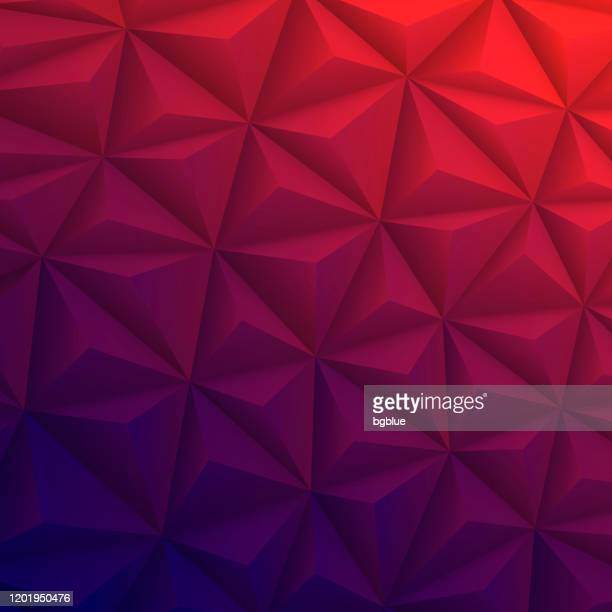 abstract geometric texture - low poly background - polygonal mosaic - red gradient - red and blue background stock illustrations